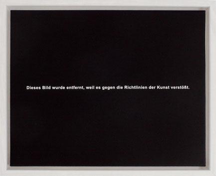 Daniel Schörnig,  Dieses Bild wurde entfernt,  2021,  acrylic on canvas, 40 x 50 cm