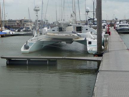 """Im Yachthafen des """" Yachtclub Norden """" in Norddeich"""