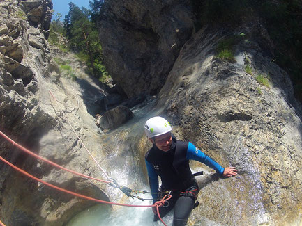 canyoning à briançon, serre chevalier, hautes alpes