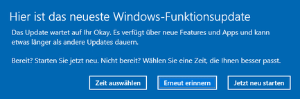 Windows 10 Update Version 1809 herunterladen