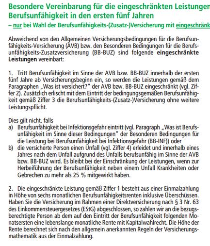 HDI Aktion Basis Schutz Wartezeit Bedingungen