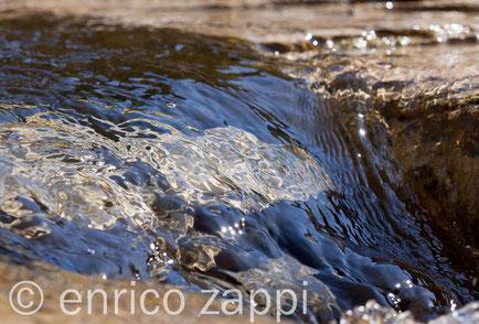 La limpida acqua di un torrente a primavera