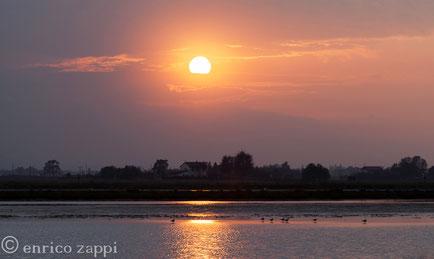 La semplicità e la poesia di un tramonto d'autunno.