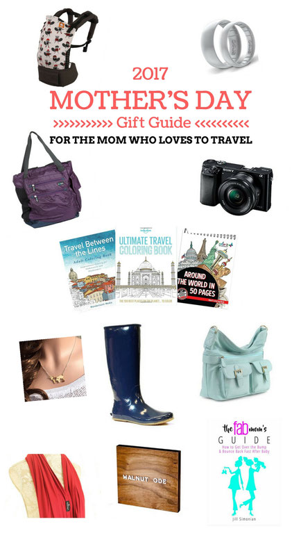 Mother's Day Gift Guide | Gifts ideas for the mom who loves to travel | Family Travel  | Travel with baby, infant, toddler | Traveling with baby | Gifts for her