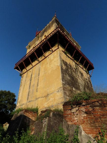 alter Wachturm in Inwa