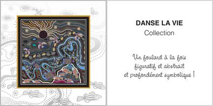 Foulard de soie, ladytie, chaussette, étole, écharpe de la collection DANSE LA VIE