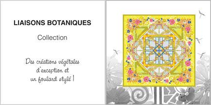 Foulard de soie, ladytie, chaussette, étole, écharpe de la collection LIAISONS BOTANIQUES