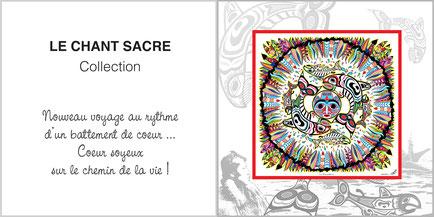 Foulard de soie, ladytie, chaussette, étole, écharpe de la collection CHANT SACRE