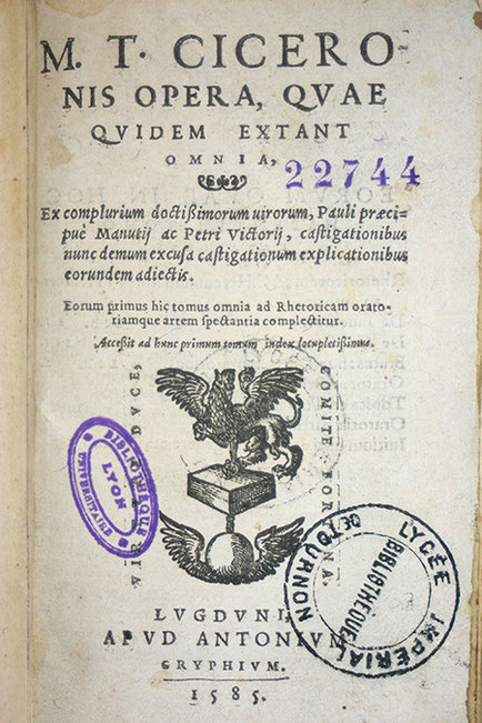 à Lyon chez Gryphe, 1585