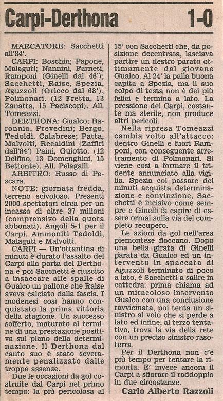 1989-90 CARPI - DERTHONA