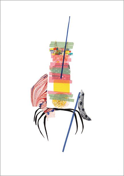 Spider, 2013, Scherenschnitt, 42 x 29,7 cm