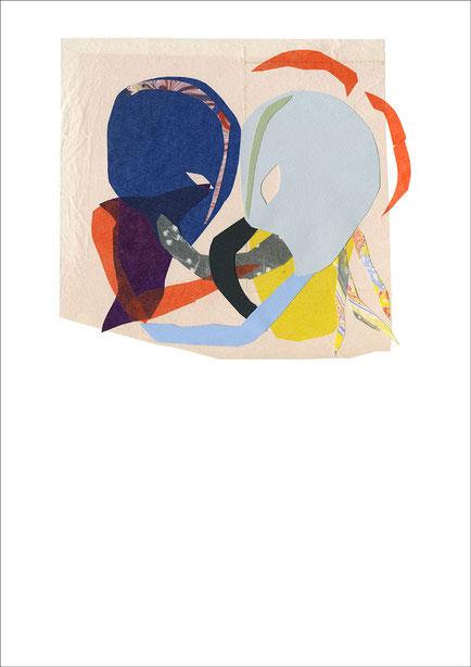 Face to Face, 2013, Scherenschnitt, 29,7 x 42 cm