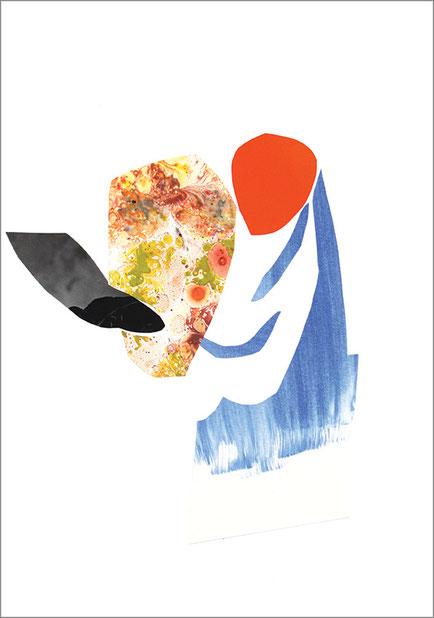 Orange Dort, 2013, Scherenschnitt, 29,7 x 21 cm