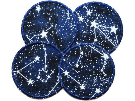 Knieflicken zum aufbügeln für Kinder, Hosenflicken Weltall Stern Sternbild