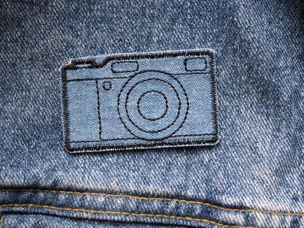 Bild: Kamera Foto Bügelbild Applikation patch Jeanspatch zum aufbügeln