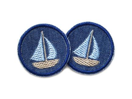 Jeansflicken patch Segelboot Boot mini Flicken Accessoire Erwachsene Kinder