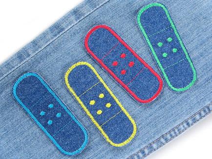 Bild: Bügelflicken Pflaster, Jeansflicken Hosenflicken für Kinder Erwachsene, Patches zum aufbügeln