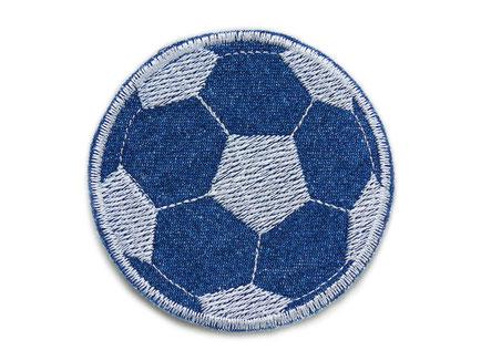 Bild: Fussball Jeansflicken Applikation Aufnäher Fußball