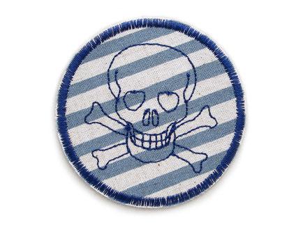Totenkopf skull Jeansflicken Hosenflicken Knieflicken für Jungen