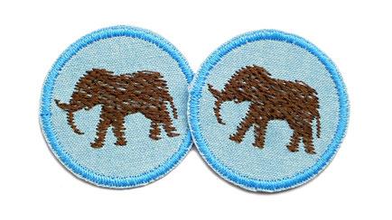 Bild: Elefant braun Aufnaeher Jeans Flicken Patch mini Accessoire fuer Maedchen
