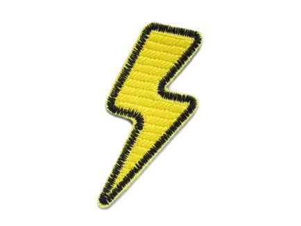 Bild: Patch Blitz gelb, Thunder Aufnäher zum aufbügeln