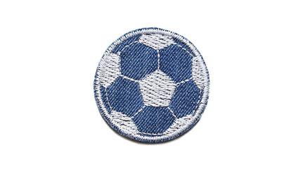 Bild: Fußball Flicken Applikation Aufbügler mini Jeansflicken