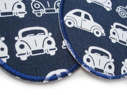 große Knieflicken mit Autos für Kinder, Hosenflicken Jeansflicken Aufbügler Bügelflicken Junge