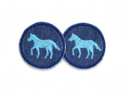 Bild: Pferd Patch Jeans Flicken mini für Mädchen Accessoire zum aufbügeln
