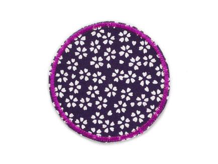 Bild: Aufnäher Hosenflicken zum aufbügeln mit Blümchen violett