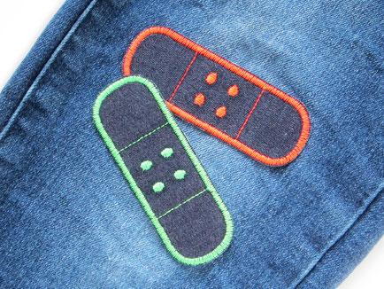 Bild: Bügelflicken neon Hosenpflaster Jeans Jeansflicken Hosenflicken Kinder Erwachsene Patches zum aufbügeln
