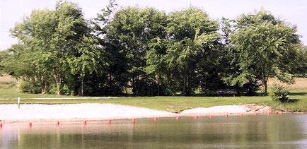 Le premier bassin avec sa plage