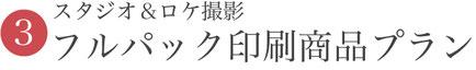 ③スタジオ&ロケ撮影フルパック印刷商品プラン