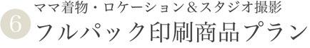 ⑥ママ着物・ロケーション&スタジオ撮影フルパック印刷商品プラン