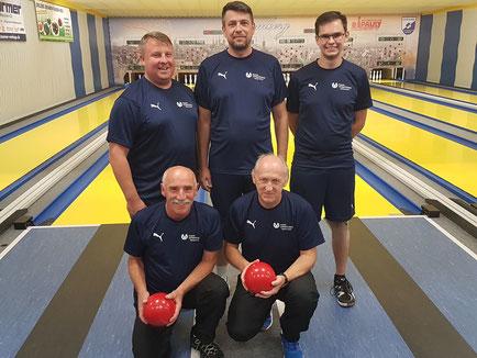 Hinten von links: Gareiß Markus, Hildner Thomas, Müller Christian; Vorne von links: Ochs Walter, Mantel Werner