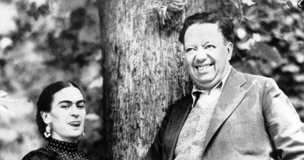 Friada Kahlo y Diego Rivera