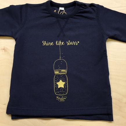 Sweat Navy et Or Bébé, Rock my Citron, Shine Like Stars, Cadeaux Fêtes, Anniversaires, Naissances