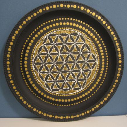 BLUME DES LEBENS  (Wandteller 45 cm)     € 120.-