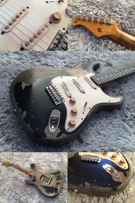 John Mayer's Black 1 Stratocaster 風です