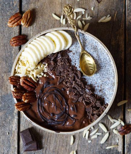 chiapudding chocolate nicecream icecream