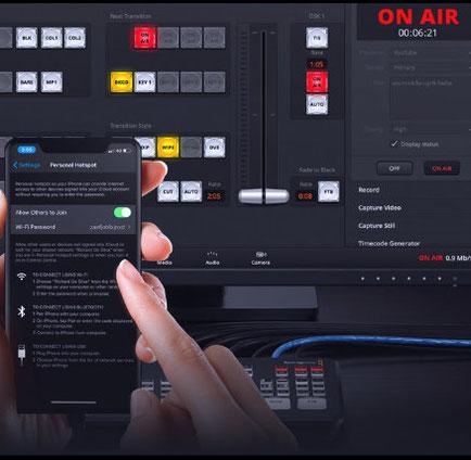 video por internet, transmisión por teléfono, ATEM Mini