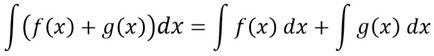 Die Summenregel der Integration als allgemeine Formel