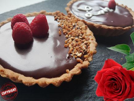 recette tartelettes choco framboises sans gluten sans lactose
