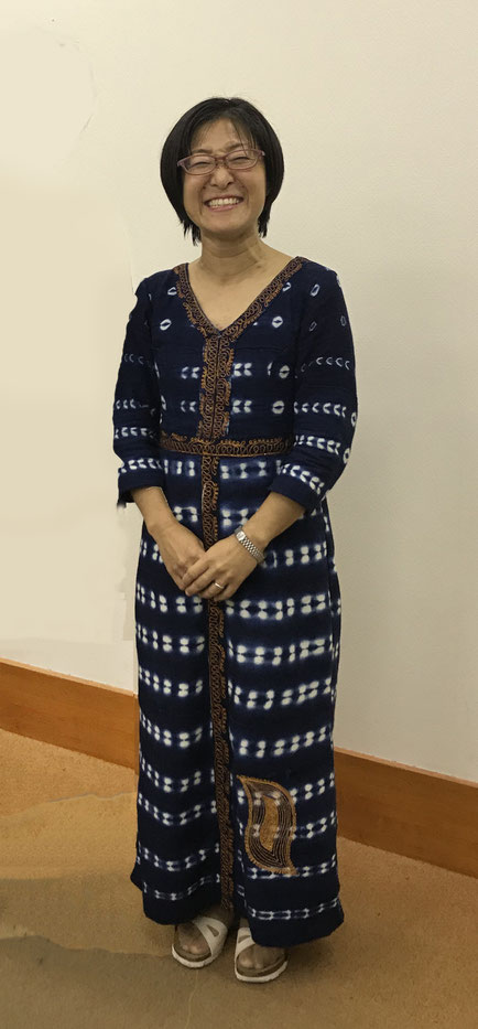 ブルキナファソの民族の織物で仕立ててもらった服