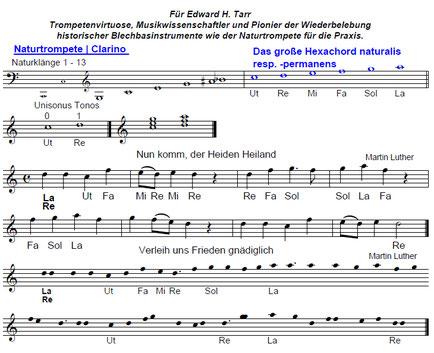 Edward H. Tarr Naturtrompete | Langtrompete | Hexachord | Hexachordsystem