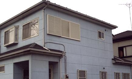蓮田市の戸建住宅、外壁塗装・屋根塗装工事前の写真