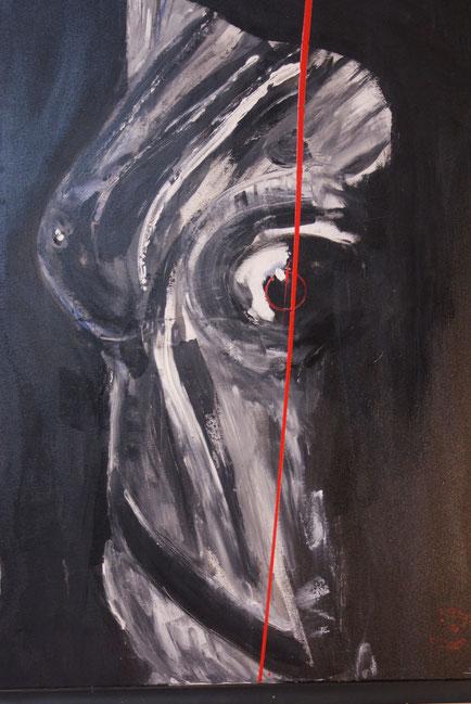 """weiblicher Torso""  80x100  Acryl auf Leinwand 2008"
