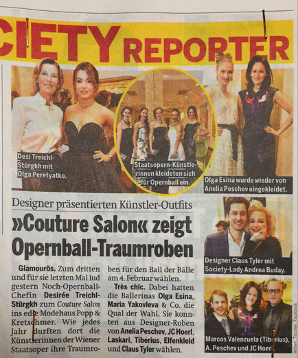 Couture Salon Cocktailkleid aus Wien Fashion Mode Designer