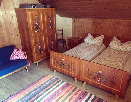 4-Bettzimmer in der Füssener Hütte in Tirol