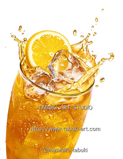 NRD2954レモンティー 飛沫 水滴 シズル 美味しさ