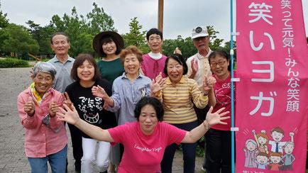 2019年7月20日松阪市鈴の森公園笑いヨガ